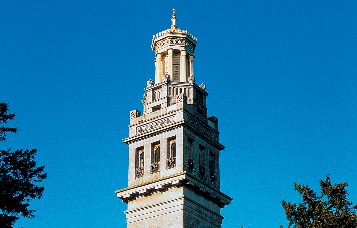 Tower against a blue sky in Bath