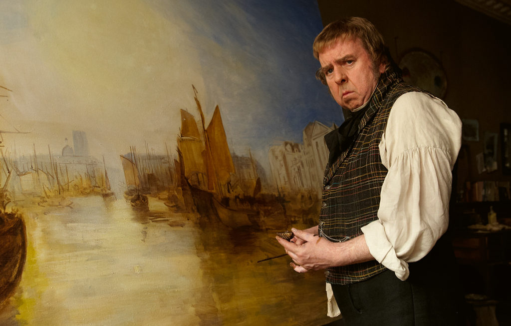 Timothy Spall as the artist in Mr Turner