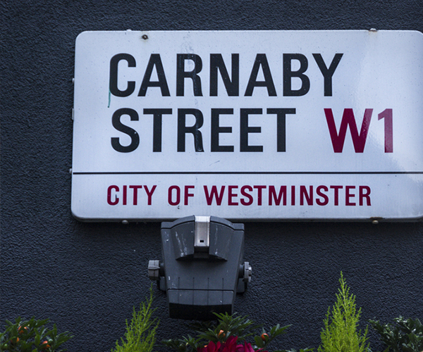 Street sign saying 'Carnaby Street', London