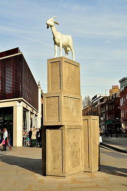 I Goat, sculpture, Spitalfields, London