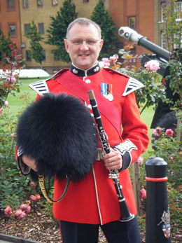 Greg Laing in his uniform for Trooping the Colour, BB Guide