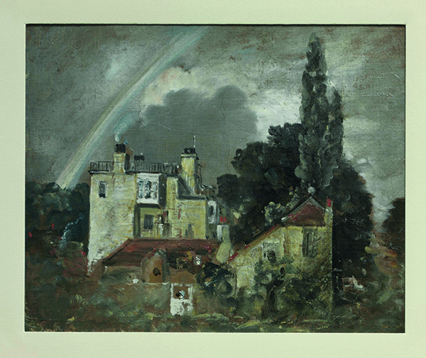 Painting by John Constable called A Romantic House at Hampstead