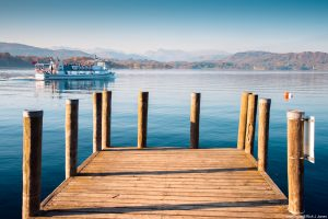 Brockhole Jetty on the shores of Lake Windermere in the Lake District. (c) Visit Britain