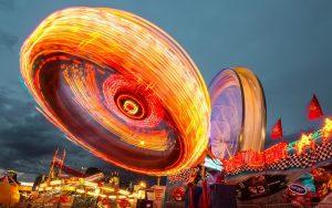 Fairground by night