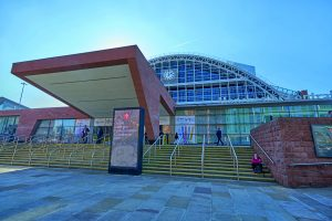 Manchester Convention Centre on former site of St Peters Fields.