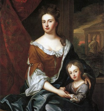 Portrait of Queen Anne with her son