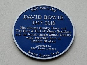 David Bowie plaque