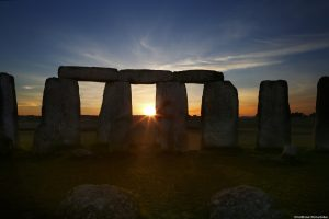 Sunset at Stonehenge.