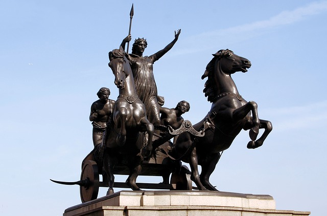 Statue of Queen Boudicca on Westminster Bridge