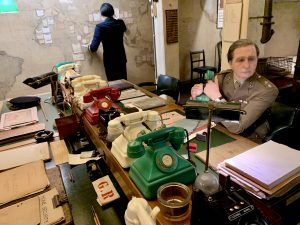 Officers in the Map Room of the Cabinet War Rooms