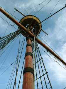 The Mayflower mast