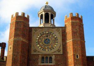 Astronomical Clock in Clock Court, Hampton Court Palace