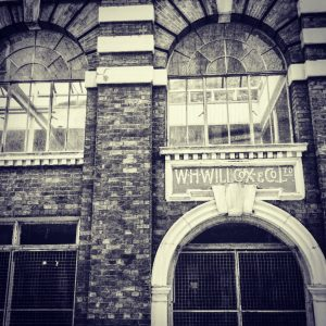 The front of a building at Bankside, London