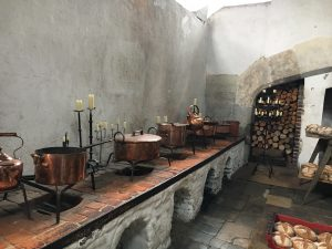 The kitchens at Hampton Court Plalace