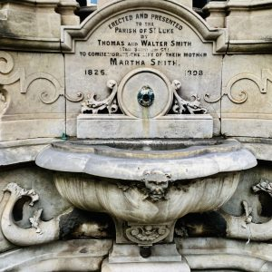 Inventor of the Christmas cracker, Victorian confectioner Tom Smith, erected this drinking fountain in his mother's memory.