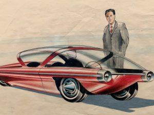 Sketch of a red Firebird Concept Car