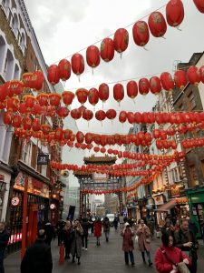 Chinese lanterns dominate the streets in the lead up to Chinese New Year