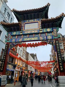 Magnificent gates in the imposing style of the Qing Dynasty welcome visitors to Wardour Street