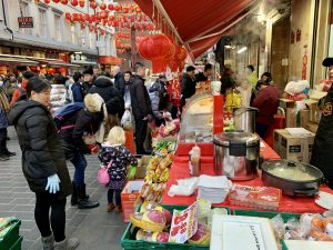 Street food market in chinatown, London