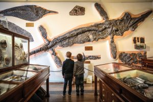 Boys with Ichthyosaur whitby musuem
