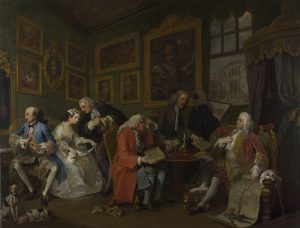 William Hogarth, Marriage A-la-Mode: 1, The Marriage Settlement (c) The National Gallery
