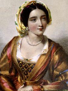 Painting of . Queen Eleanor of Castille