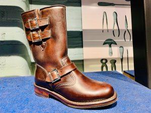 Brown biker boot