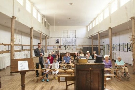 British School classroom and visitors