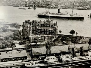 Tilbury pre-war. The Tilbury Hotel in the foreground was destroyed in the Blitz. Picture courtesy of the Port of Tilbury