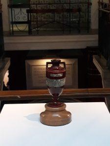 A brown urn